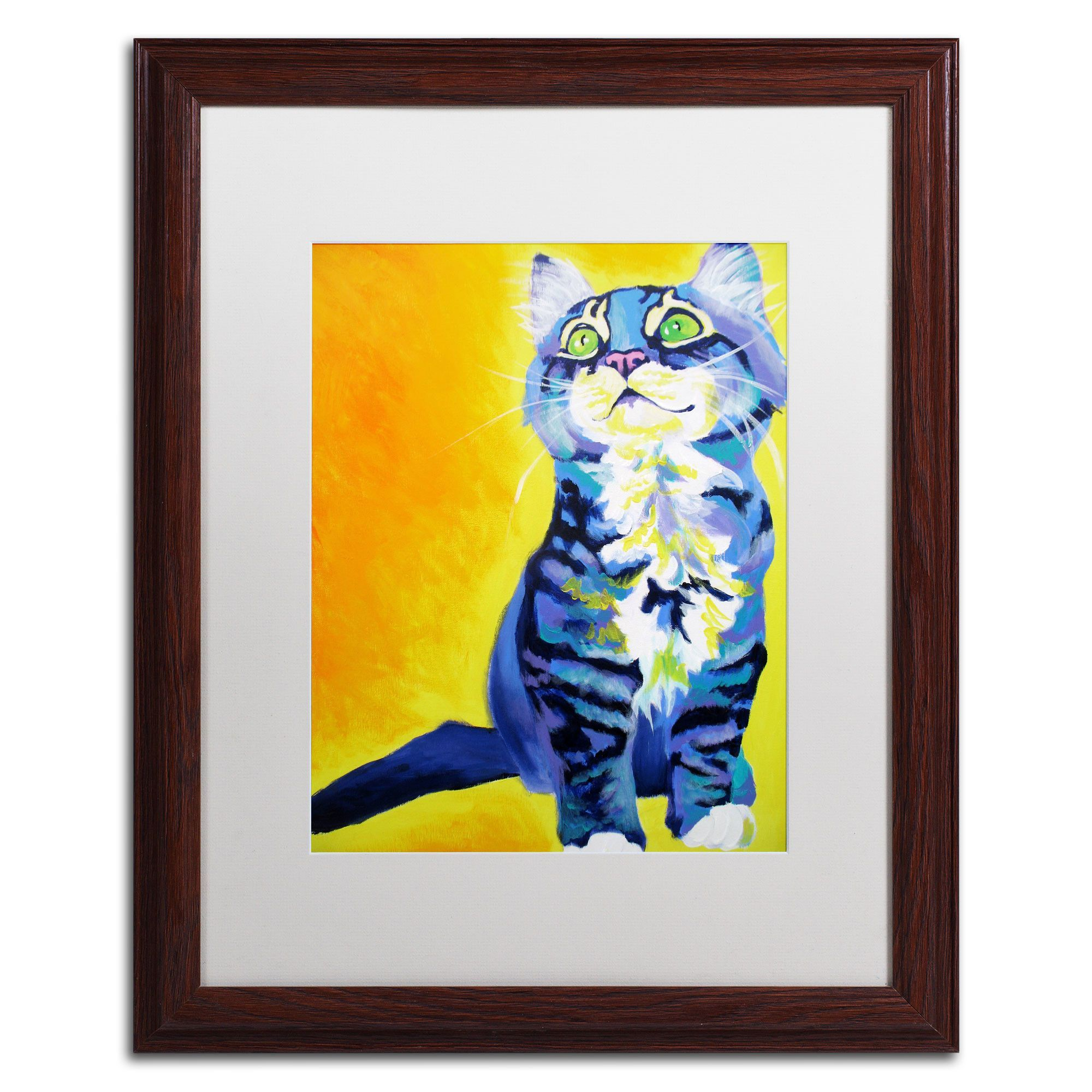 Here Kitty Kitty\' by Alicia VanNoy Call Framed Painting Print | Products