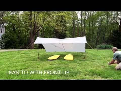 Flat Tarp Setups Using 9x9 Tarp Youtube Lean To Tarps Tarp Shelters