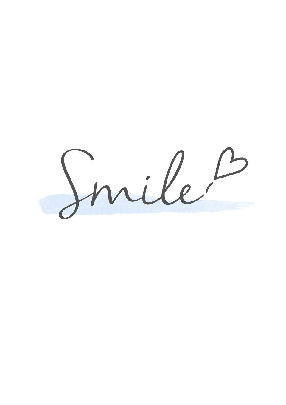 """""""Smile"""" Typography – by Kylie Hong #iphone #wallpaper # ..."""