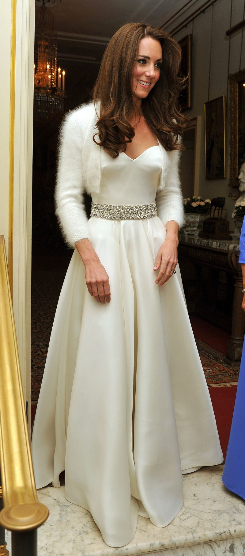 Kate Middleton In Her Wedding Reception Dress By Sarah Burton From