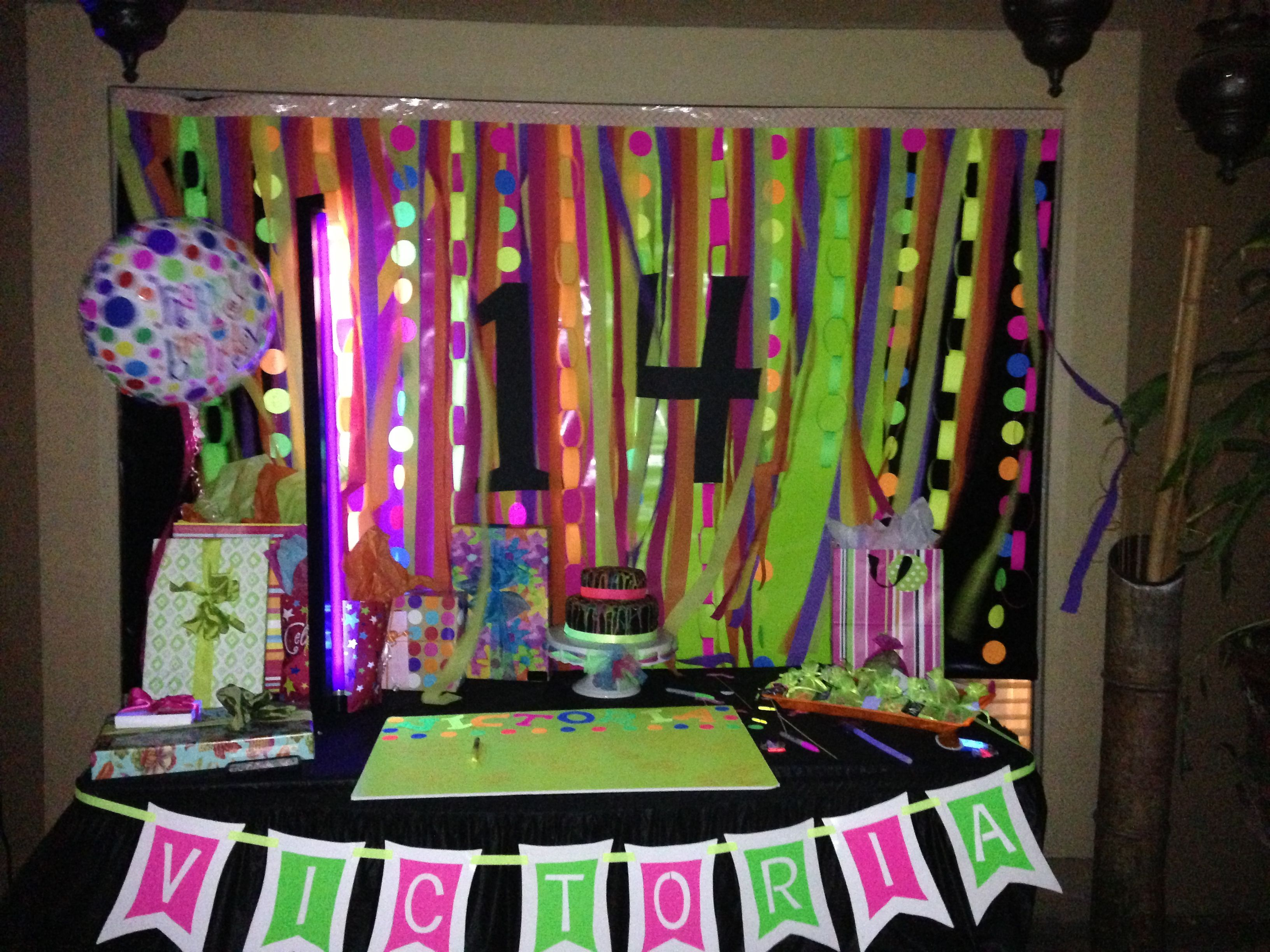 Neon birthday party  Bday parties  Pinterest