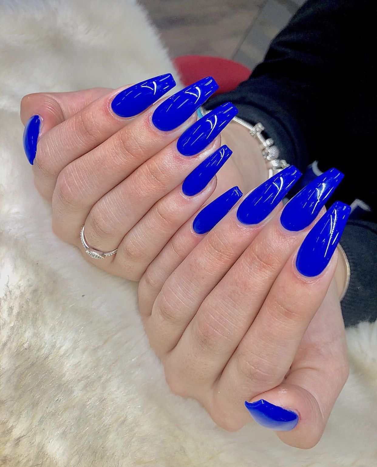 Pin By Bill Montague On Blue Nails Blue Acrylic Nails Coffin Nails Long Coffin Nails Designs