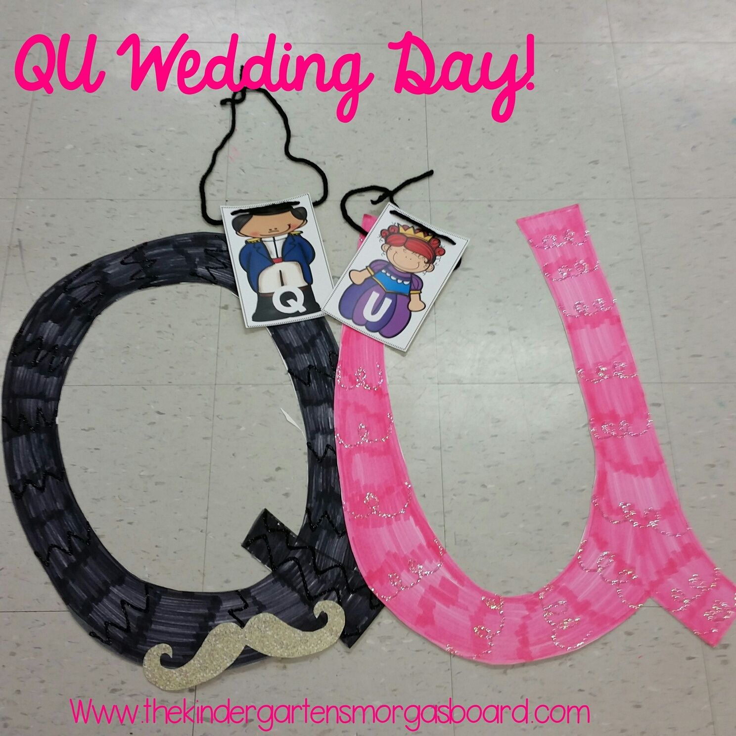 A Q And U Wedding