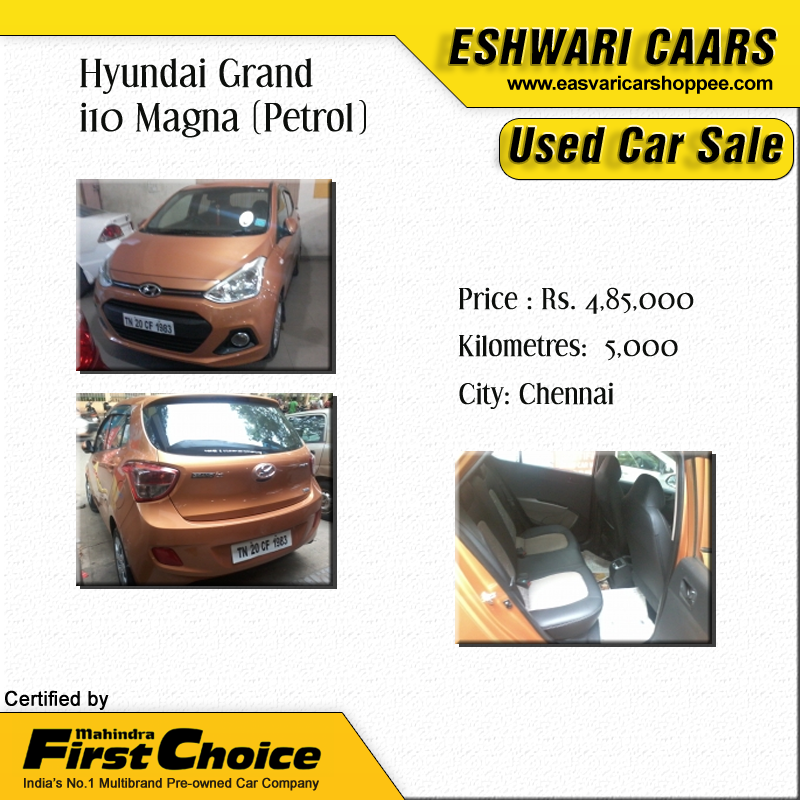 Hyundai Grand i10 Magna (Petrol) Price Rs. 4,85,000