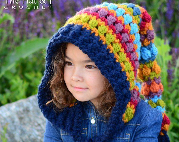 aa9b3fef9c1 Crochet PATTERN Bohemian Nights Hoodie crochet hood