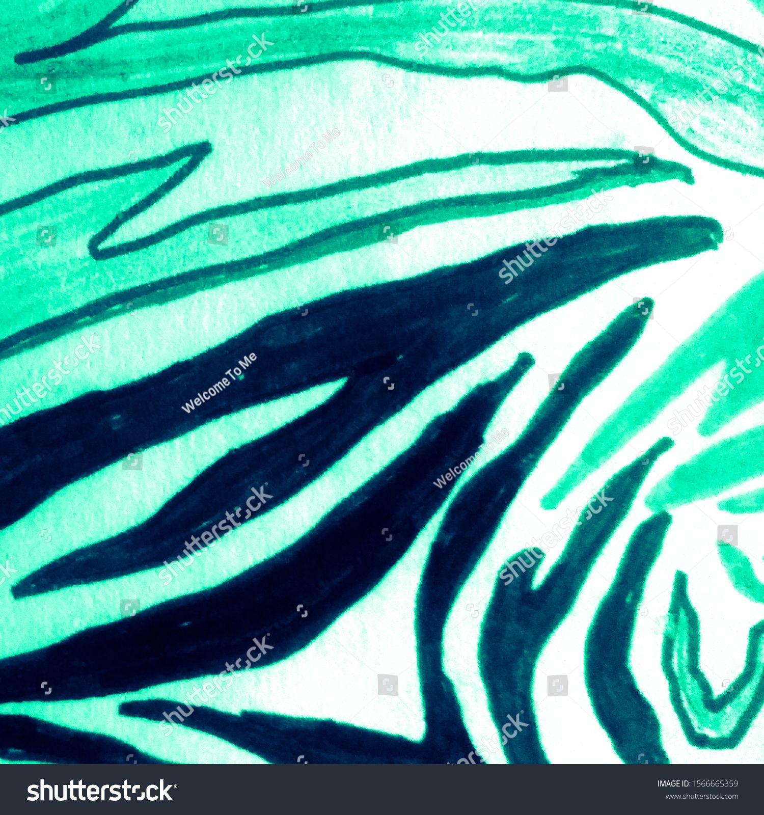 Bright Animal Zebra Pattern. Zebra Animal Material