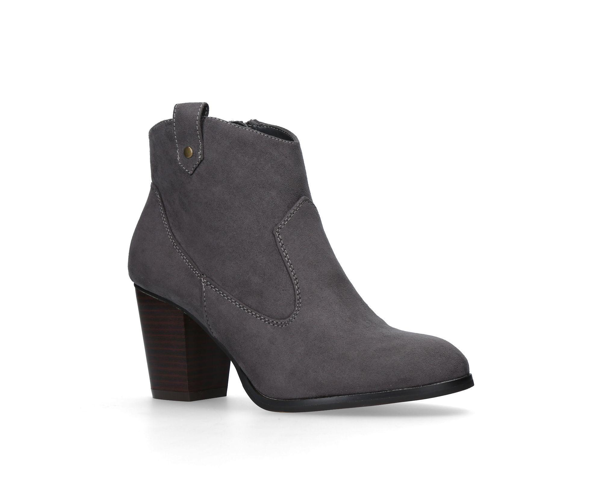 KG Saloon mid block heel ankle boots, Tan   Boots, Tan