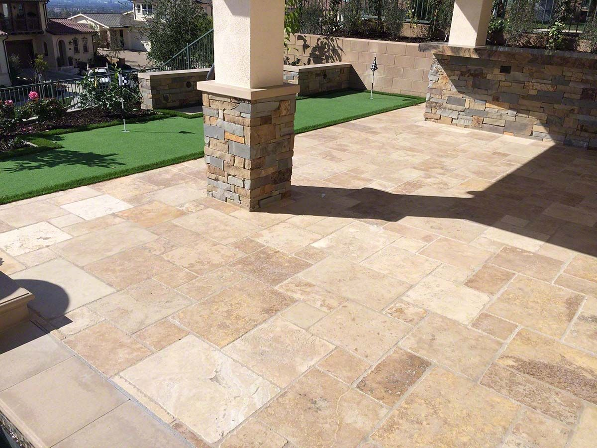 Tuscany Chateaux Travertine Tile Travertine Outdoor Travertine