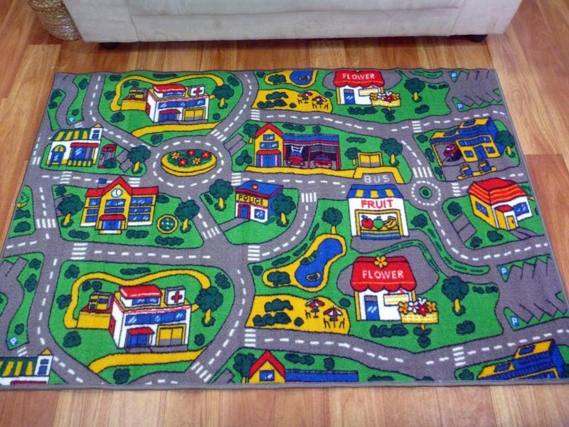 Road Rugs Kids City Car Activity Play Mats 1x1 5m 1x2m 1 33x2m