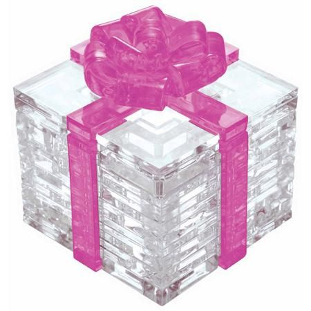 3d Crystal Puzzle Pink Bow Gift Box Pink Gift Box Red Gift Box Puzzles Gifts