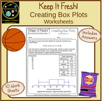 Box And Whisker Plots Worksheets With Story Problems Measures Of