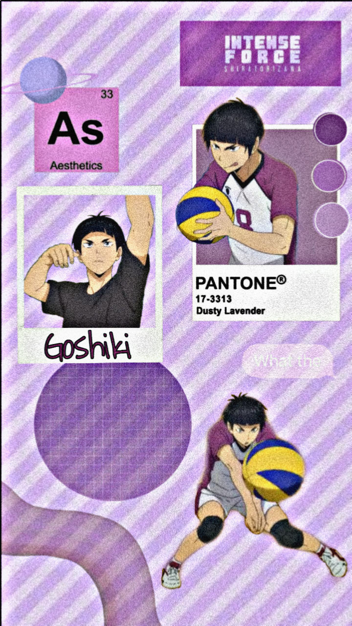 Shiratorizawa Purple [Tsutomu Goshiki wallpaper] #wallpaper #haikyuu #aesthetic #purplepink #goshikitsutomu #myedit