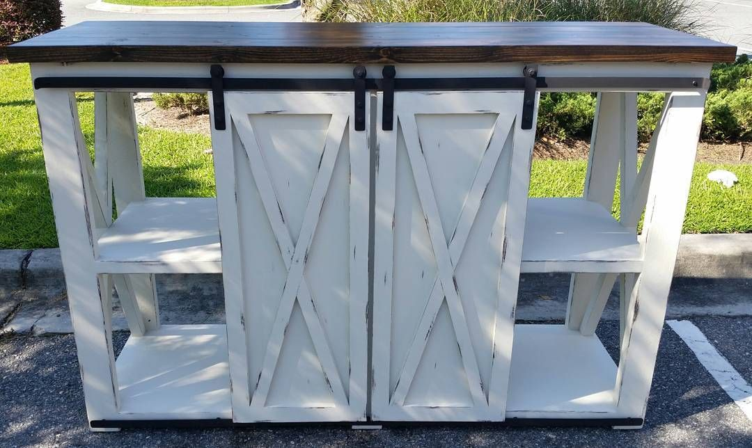 Remarkable Gorgeous Hand Crafted X Console Table With Sliding Barn Creativecarmelina Interior Chair Design Creativecarmelinacom
