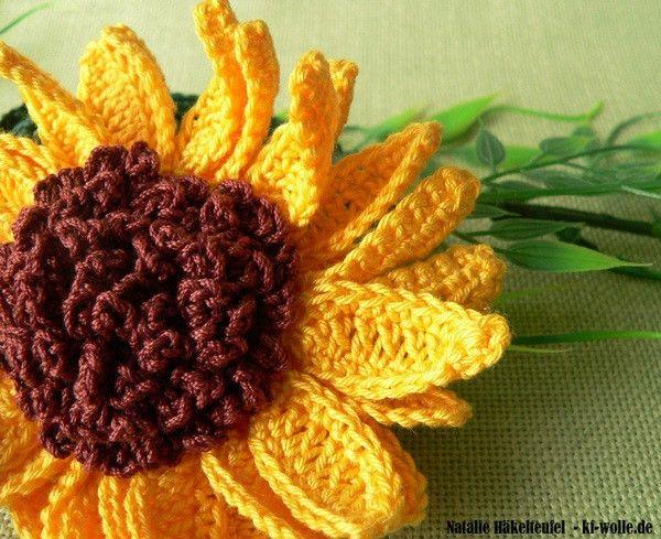 Sonnenblume Häkeln Anleitung My Blog