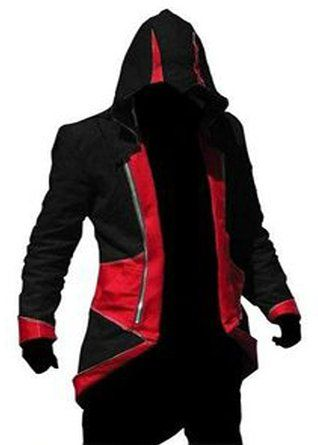 Rulercosplay Assassin's Creed 3 Connor Kenway Jacket Hoodie Cosplay jacket/Coat In Cotton Available In All Size's Our Colours (Medium, Black And Red)