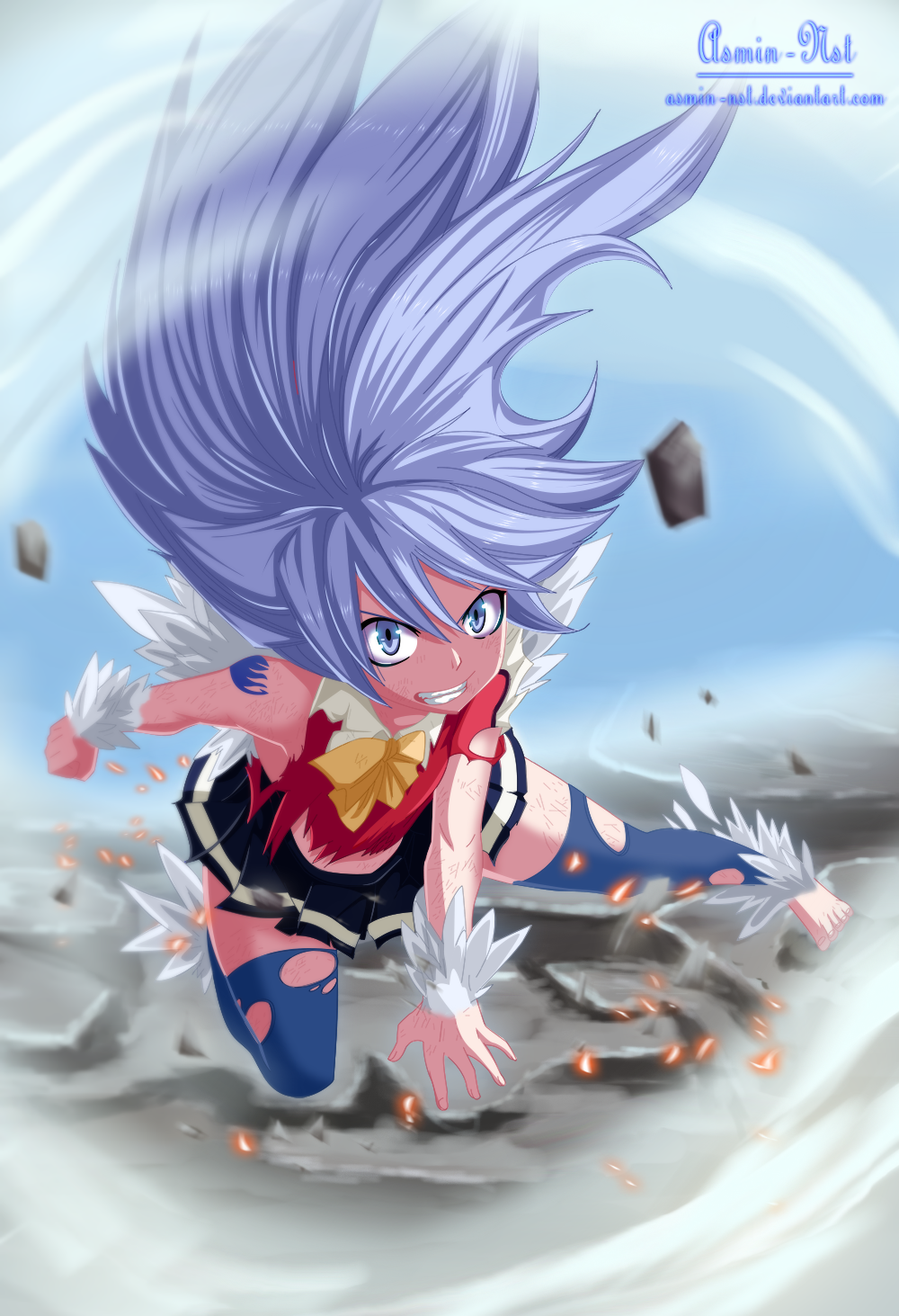 Wendy Dragon force - Fairy Tail 376 by Asmin-Nst | Fairy Tail ...