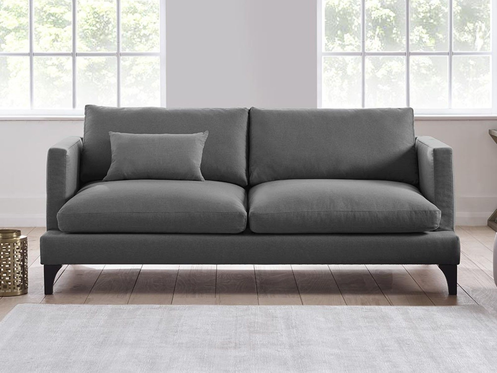 Theo Upholstered Sofa in Chatsworth Blue by