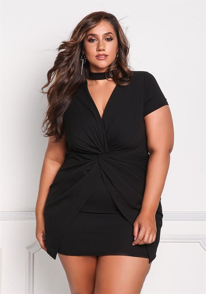 Plus Size Clothing Plus Size Twisted Bodycon Dress
