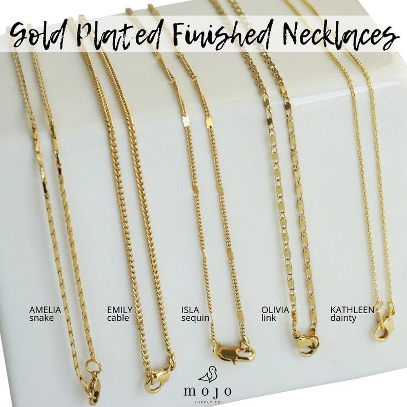 5 Styles Gold Finished Necklace 17 5 18 20 Inch Chain Necklace Wholesale Gold Plated Necklaces S Gold Necklace For Men Gold Chain Design Jewelry Bracelets Gold