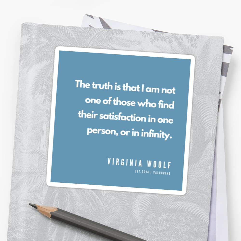 17    |Virginia Woolf Quotes | 190602  Sticker by QuotesGalore