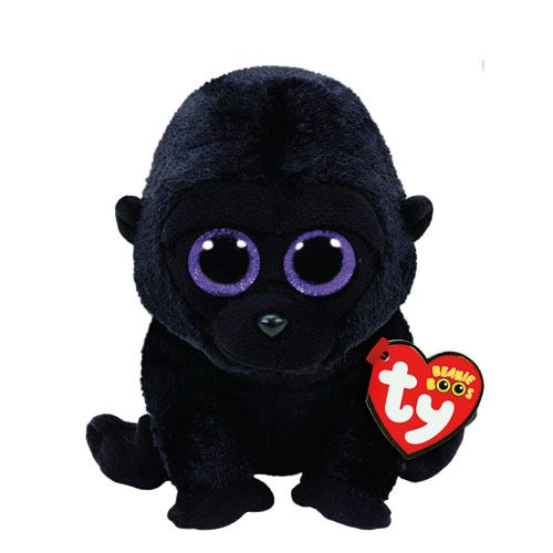 6b631bc9104 TY Beanie Boo Small George the Gorilla Soft Toy