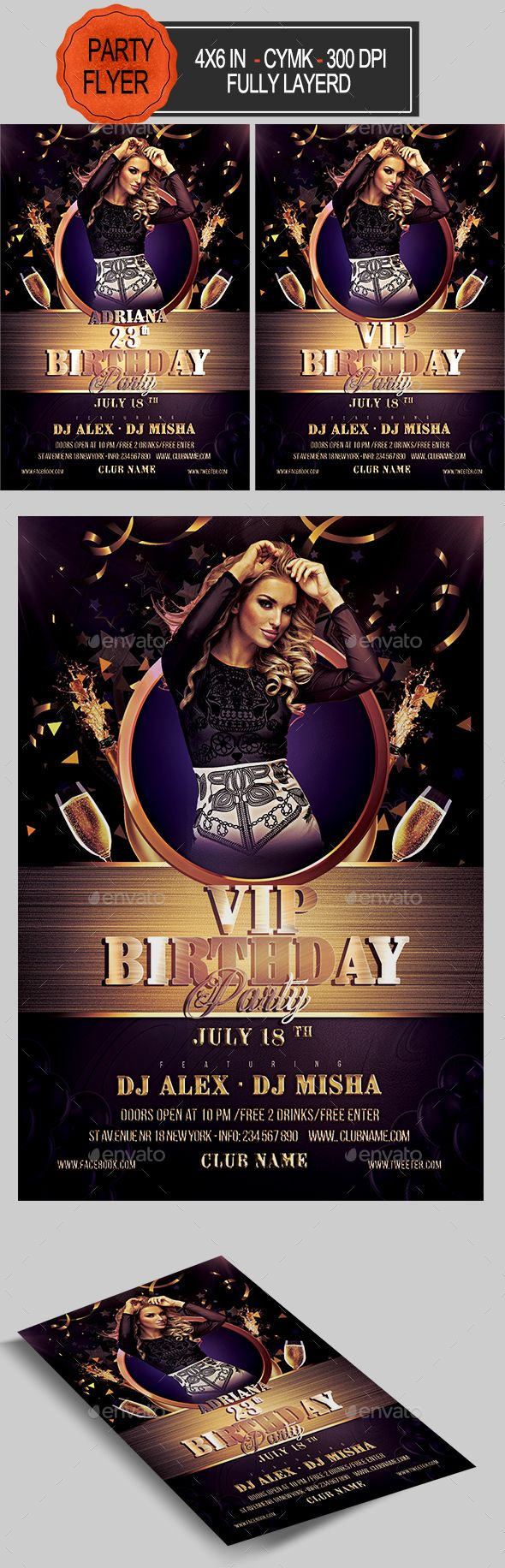 Birthday Flyer  Flyer Template Birthdays And Fonts
