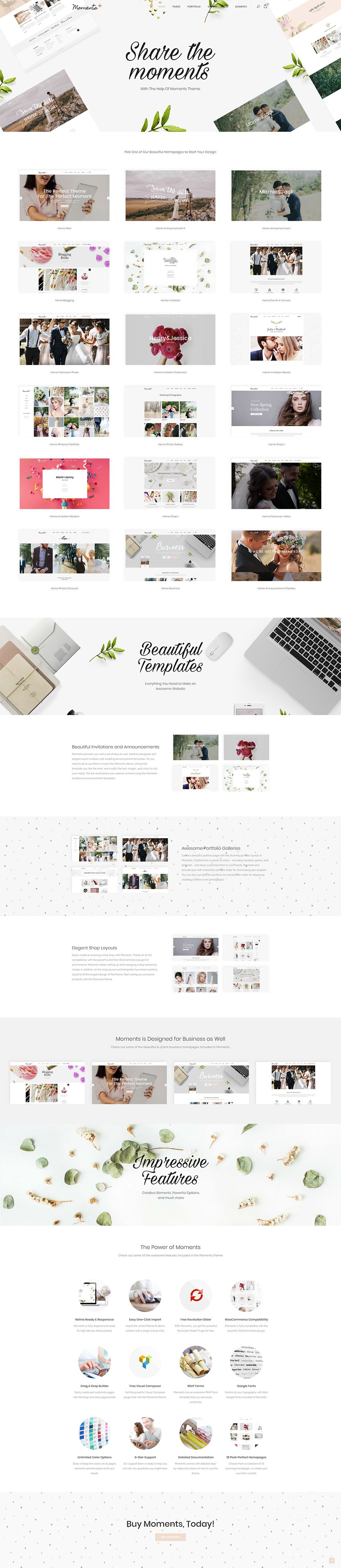 Moments is a stylish event theme made for every wedding planner and