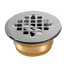 Oatey No Caulk 4 In L Square Holes Round Stainless Steel Shower