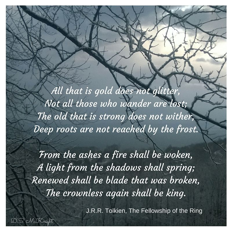 Love tolkiens lord of the rings this poem is from the