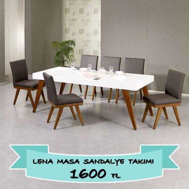 6 kisilik lena masa takimi bir tik yakininizda sadeceonda com da http www sadeceonda com masa sandalye takimlari lena takim 39 sandalye masa dekorasyon