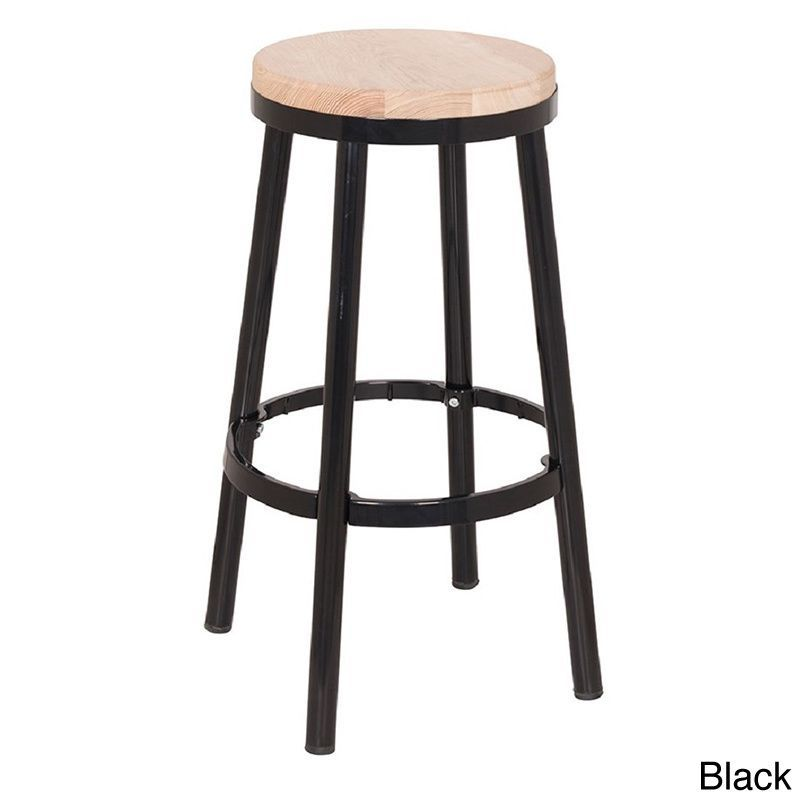 Fresh Black and Wood Bar Stools