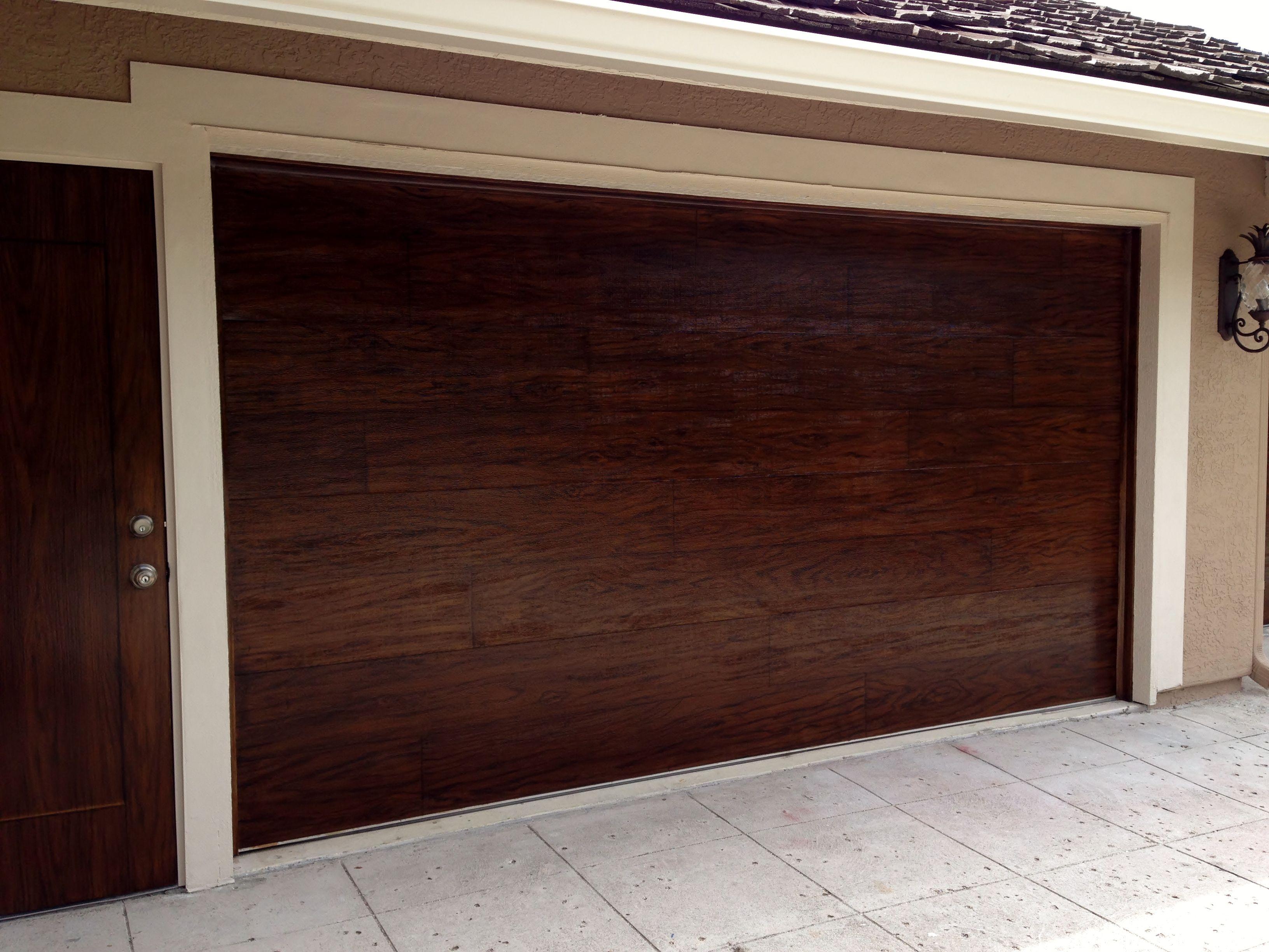 New How to Stain Garage Door