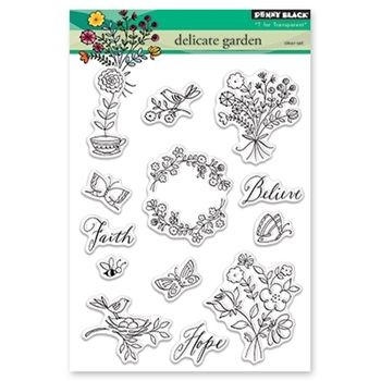 40-207 Trailing Beauty Penny Black Decorative Rubber Stamps