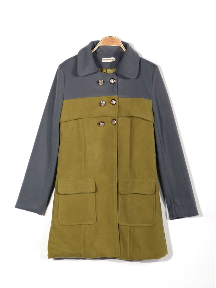 Spell Color Cashmere Woolen Small Coat