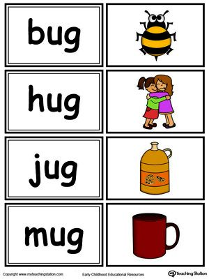 picture relating to Printable Word Sorts called Term Form Match: UG Words and phrases inside of Coloration Phonics Printable phrase