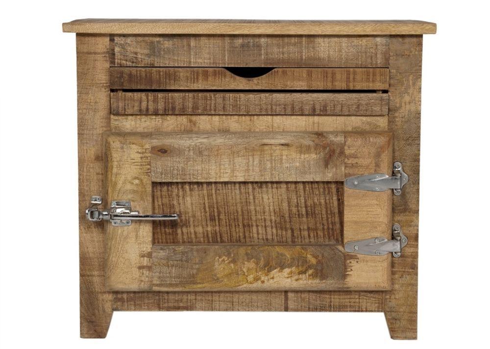 Badezimmerkommode Frigo Badezimmerschrank Holz Massiv Mango 7696 ...