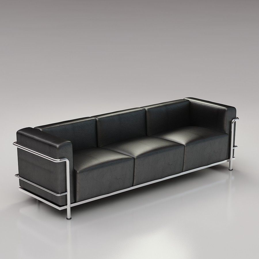 Lc3 Le Corbusier Grand Modele 3d Model Cassina Files Max2009 3ds Dwg Obj 7 00 Corbusier Chair Le Corbusier Chair Le Corbusier Sofa