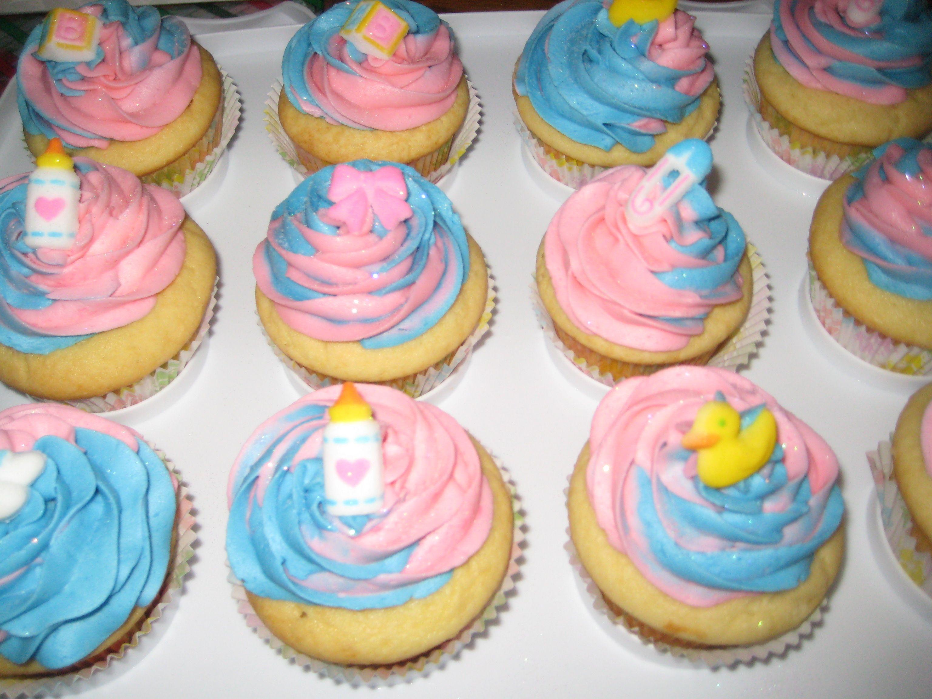 Gender Reveal Cupcakes Cupcakes By Myself Pinterest Gender