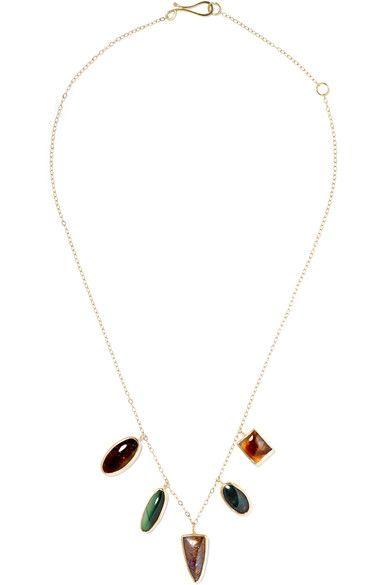 14-karat Gold, Sterling Silver And Multi-stone Necklace - one size Melissa Joy Manning