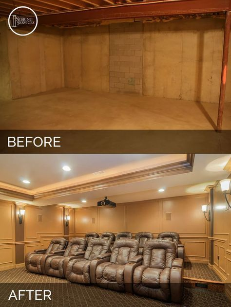 Fresh Basement Remodeling before and after