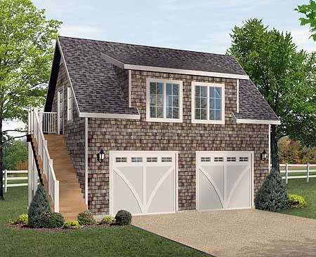 Plan 22074sl shingle style garage apartment best guest for Garage guest house plans