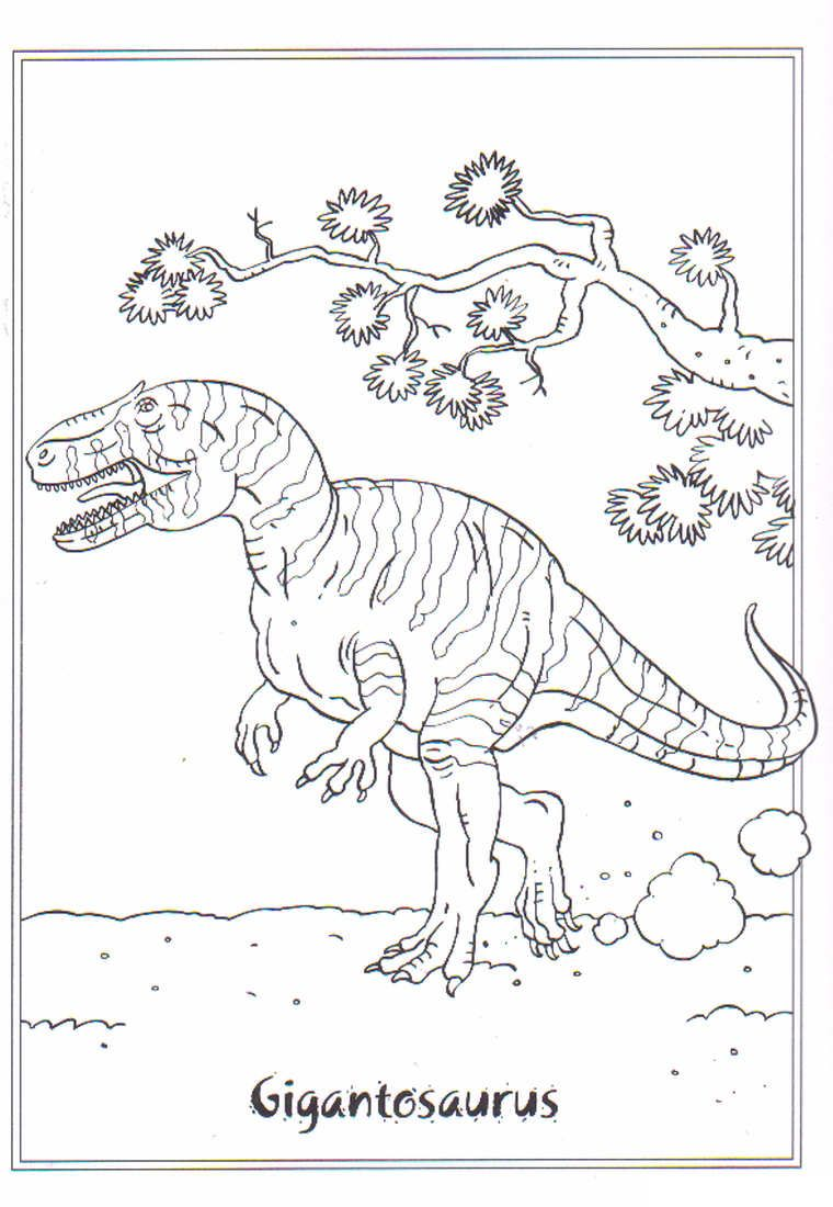coloring page Dinosaurs 2 Gigantosaurus coloring