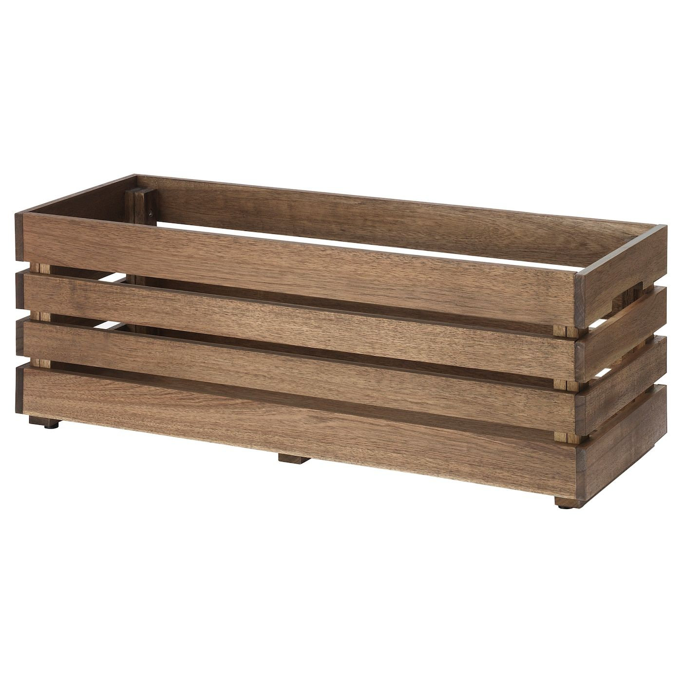 Ikea Stjarnanis Outdoor Acacia Flower Box In 2020 Flower Boxes