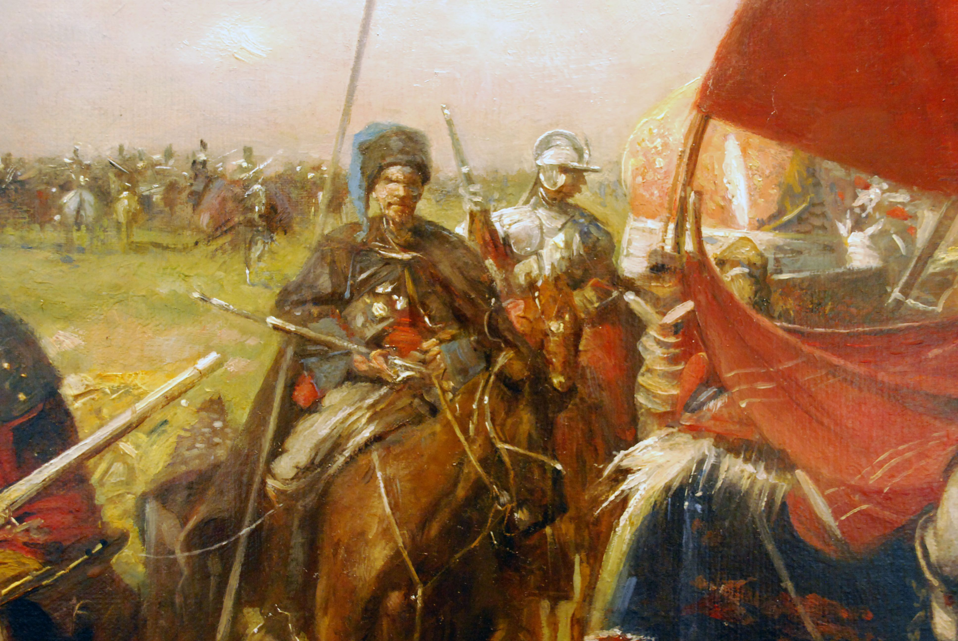 Russian Cossack on campaign