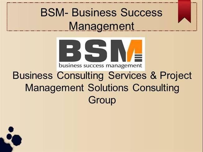 BSM- It  Project Management Consulting Group New Jersey #It