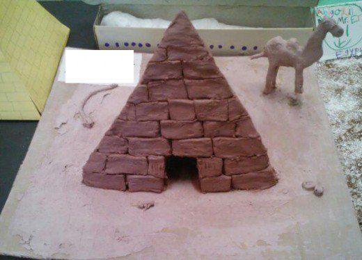 3d pyramid model project ideas pastel pinterest pyramid model