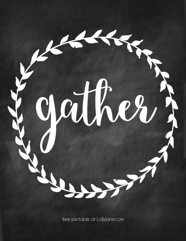FREE Gather Home Decor Art Just Print And Display Great For Fall Free Dining Room PrintablesFree