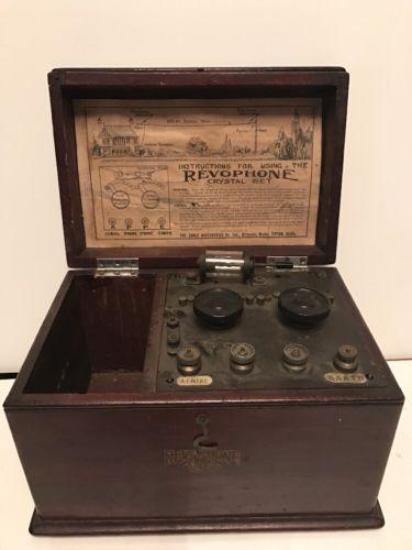 Bbc Revophone Crystal Set Radio Antique Radio Radio Vintage Radio