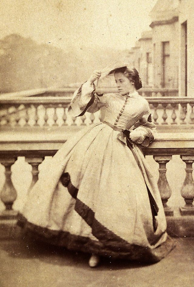 Portrait of a woman taken by Clementina Hawarden, UK, 1860s. Clementina Hawarden was considerate th