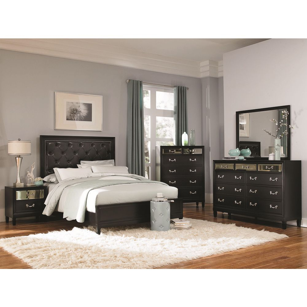 the beautiful versailles 4 piece bedroom set features a gorgeous